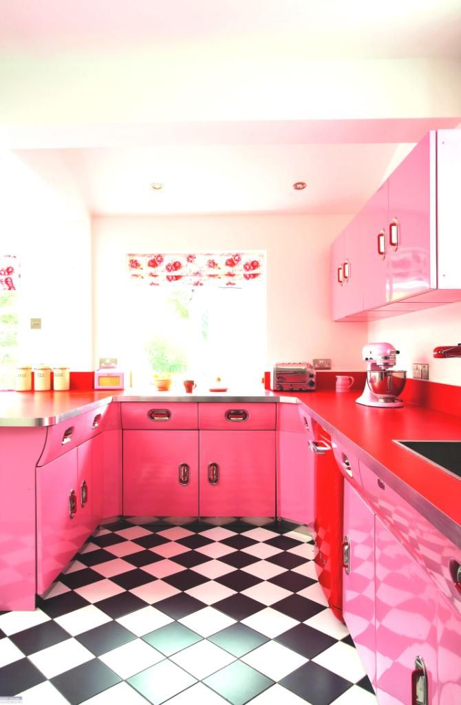 pink walls in the kitchen pink cuisines ideas and photos